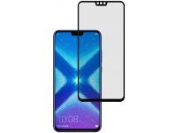 Folie Protectie Ecran Tellur pentru Huawei Honor 8X, Sticla securizata, Full Face, Full Glue, 2.5D, Neagra, Blister TLL145675
