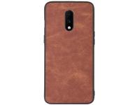 Husa Piele - TPU OEM Sheep Skin pentru OnePlus 7, Maro, Bulk