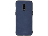 Husa Piele - TPU OEM Sheep Skin pentru OnePlus 7, Bleumarin, Bulk