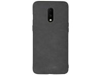 Husa Piele - TPU OEM Sheep Skin pentru OnePlus 7, Neagra, Bulk