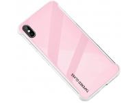 Husa TPU OEM Antisoc cu spate din sticla pentru Apple iPhone XR, Roz, Bulk