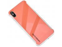 Husa TPU OEM Antisoc cu spate din sticla pentru Apple iPhone XR, Portocalie, Bulk