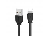 Cablu Date si Incarcare USB la Lightning Remax Suji RC-134i, 2.1A, 1 m, Negru, Blister