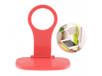 Suport plastic Universal pentru incarcare telefon la priza OEM, Rosu, Bulk