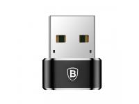Adaptor Conversie USB La USB Type-C Baseus CAAOTG-01, 5A, Negru, Blister
