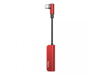 Adaptor Audio USB Type-C La 3.5 Mm cu port incarcare USB Type-C Baseus L53, Rosu, Blister CATL53-91