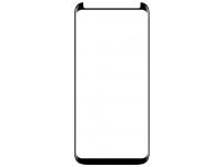 Folie Protectie Ecran Hammer Samsung Galaxy S9 G960, Sticla securizata, Full Glue, 3D, 9H, Hot-Bending, cu Rama ajutatoare, Neagra, Blister
