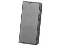 Husa Piele OEM Smart Magnetic pentru LG K50 / LG Q60, Neagra, Bulk