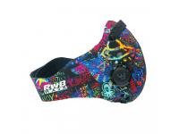 Masca protectie fata RWB Graffiti, Filtru Antipoluare, Multicolor, Blister
