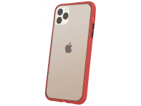 Husa TPU OEM Colored Buttons pentru Apple iPhone XS Max, Rosie, Bulk