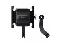 Suport Bicicleta Universal Baseus pentru Telefon, Knight metal, Negru, Blister CRJBZ-01