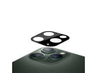 Folie Protectie Camera spate Mocolo pentru Apple iPhone 11 Pro Max, Sticla securizata, 0.15mm, 9H, 2.5D, Neagra, Blister
