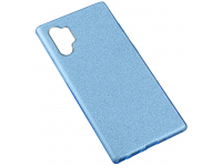 Husa Plastic - TPU OEM Glittery Powder pentru Samsung Galaxy Note 10+ N975 / Note 10+ 5G N976, Albastra, Bulk