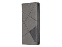 Husa Piele OEM Rhombus Texture cu suport carduri si foto pentru Nokia 4.2, Gri, Bulk