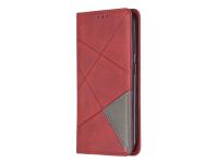 Husa Piele OEM Rhombus Texture cu suport carduri si foto pentru Nokia 4.2, Rosie, Bulk