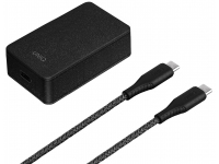 Incarcator Retea cu cablu USB Tip-C UNIQ Versa Slim, Quick Charge PD, 18W, 1 X USB Tip-C, Negru, Blister