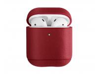 Husa piele pentru Apple Airpods 1 / 2 Uniq Terra, Rosie, Blister