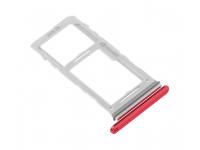Suport Card - Suport SIM Rosu (Aura Red) Samsung Galaxy Note 10+ N975 Dual SIM