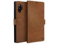 Husa Piele UNIQ Journa - Heritage pentru Samsung Galaxy Note 10+ N975 / Note 10+ 5G N976, Maro, Blister