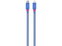 Cablu Date si Incarcare USB Type-C la Lightning Goui Fashion, 1 m, Albastru, Blister G-FASHIONC94B