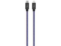 Cablu Date si Incarcare USB Type-C la Lightning Goui Fashion, 1 m, Bleu, Blister G-FASHIONC94JB