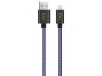 Cablu Date si Incarcare USB la Lightning Goui, 1 m, Bleumarin, Blister G-8PINFASHIONJB