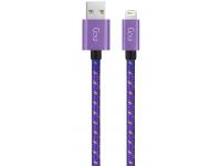 Cablu Date si Incarcare USB la Lightning Goui, 1 m, Mov, Blister G-8PINFASHIONP