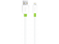 Cablu Date si Incarcare USB la Lightning Goui Classic, 1 m, Alb, Blister G-LC8PIN-02W