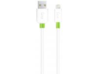Cablu Date si Incarcare USB la Lightning Goui Classic, 1 m, Alb G-LC8PIN-02W