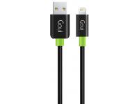 Cablu Date si Incarcare USB la Lightning Goui Classic, 1 m, Negru, Blister G-LC8PIN-02BK