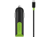 Incarcator Auto cu cablu MicroUSB Goui Viper, 2 X USB, 3.1A, Negru, Blister G-CCM3A-03