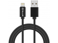 Cablu Date si Incarcare USB la Lightning Tellur Braid, 1 m, Negru, Blister TLL155382