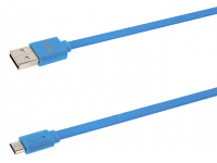 Cablu Date si Incarcare USB la MicroUSB Tellur Flat, 1 m, Alb, Blister TLL155001