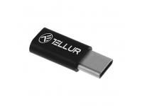 Adaptor Conversie MicroUSB la USB Type-C Tellur, Negru, Blister TLL155161