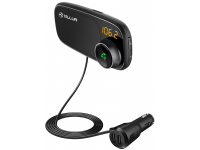 Emitator FM Bluetooth si MP3 Player AUTO cu buton Apel, si  suport magnetic pentru telefon, Tellur FMT-B6,  Negru Blister