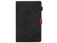 Husa Tableta Piele OEM Business Style cu suport card si rama foto pentru Samsung Galaxy Tab A 8.0 (2019), Neagra, Bulk