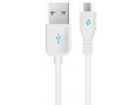 Cablu Date si Incarcare USB la MicroUSB TTEC, 1 m, Alb, Blister 2DK7510B