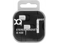 Handsfree Casti In-Ear Xqisit IE H20, Cu microfon, 3.5 mm, Argintiu, Blister