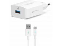 Incarcator Retea cu cablu USB Tip-C TTEC QC 3.0, 18W, 1 X USB, Alb, Blister 2SCQC01C