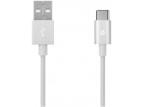 Cablu Date si Incarcare USB la USB Type-C TTEC AlumiCable, 1.2 m, Argintiu, Blister 2DK18G