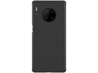 Husa TPU Nillkin Synthetic Fiber Carbon pentru Huawei P30 Pro, Neagra, Blister
