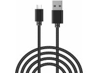 Cablu Date si Incarcare USB la USB Type-C OEM, 2 m, Negru, Bulk