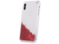 Husa TPU OEM Liquid Glitter Letters pentru Samsung Galaxy A40 A405, Rosie, Bulk