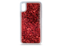 Husa TPU OEM Liquid Sparkle pentru Apple iPhone 11, Rosie, Bulk
