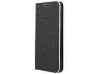 Husa Piele OEM Smart Venus Carbon pentru Apple iPhone 11 Pro Max, Neagra, Bulk