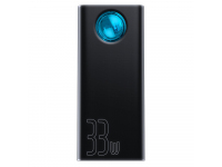 Baterie Externa Powerbank Baseus Amblight 33W, PD3.0 QC3.0, cu afisaj LED, 30000 mA, 4 x USB - USB Type-C, Neagra, Blister PPLG-01