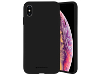 Husa TPU Goospery Mercury Silicone pentru Apple iPhone X / Apple iPhone XS, Neagra, Blister