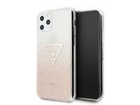 Husa TPU Guess Glitter Triangle pentru Apple iPhone 11 Pro, Roz, Blister GUHCN58SGTLPI