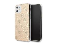 Husa TPU Guess 4G Glitter pentru Apple iPhone 11, Aurie GUHCN61PCU4GLGO