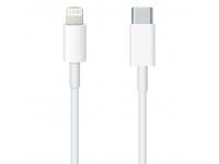 Cablu Date si Incarcare USB Type-C la Lightning Apple, 1 m, Alb MQGJ2R
